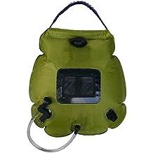 Cao - Calentador de Agua Solar (20 l), Color Verde Oliva