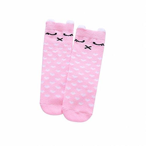 Hankyky 1 Paar Baby-Mädchen Socken Kniestrümpfe Baby Stulpen Tier Lang Knie Socken Anti Rutsch Sohle Tier Schlauch Baumwolle Strümpfe (0-2Jahre)