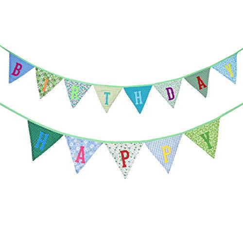 BESTOYARD Happy Birthday Banner Banderola Bunting Guirnalda para niños Fiesta de cumpleaños...
