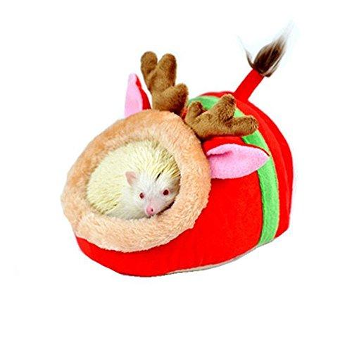 Minkoll Hamaca Pequeña para Mascotas, Diseño de Rata de Animales Pequeños, cobaya, Jaula de Nido, Hamaca de erizos, Ardilla (Reno)