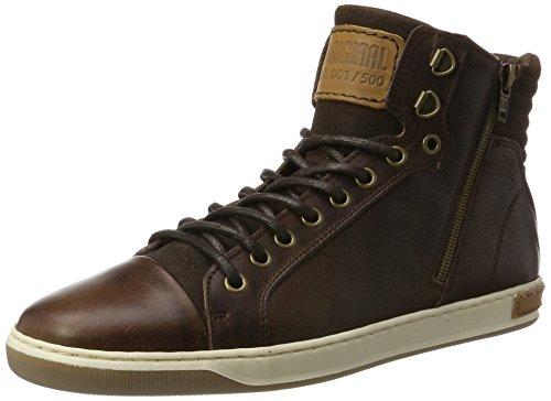 Bullboxer Herren 5836A Hohe Sneaker, Braun (Brown), 45 EU