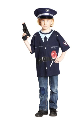 Shirt Kostüme Polizei (Rubie's 1 2419 116 - Polizeishirt Kostüm, Größe)