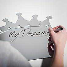 daydream pared de espejo con forma de corona pegatina de pared espejo