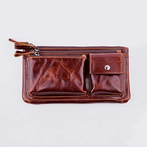 Multi-Function Pockets Men's Pocket Belt Mobile Phone Head Layer Large-Capacity Cash Register 811-29