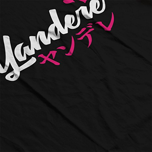 Anime Yandere Slogan Womens Sweatshirt Black