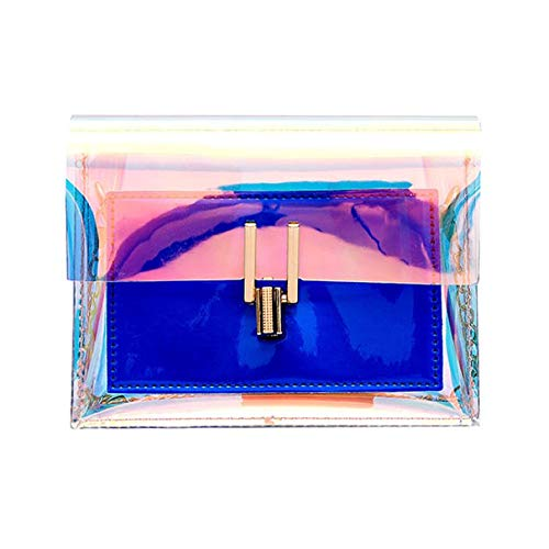 Seturrip - Frauen-Schulter-Beutel-Art- und Laser Transparent Umhängetaschen Messenger Schulter-Strand-Tasche Design Schultertasche [blau]