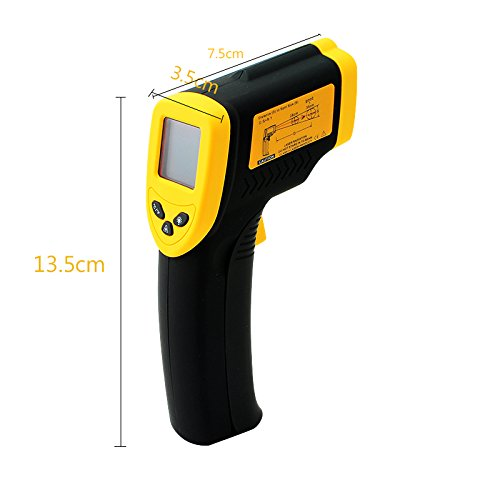denshine Berührungslose LCD IR Infrarot Digital Temperatur Test Thermometer Laser mit Auto Power Off und Low Batterie Indikator