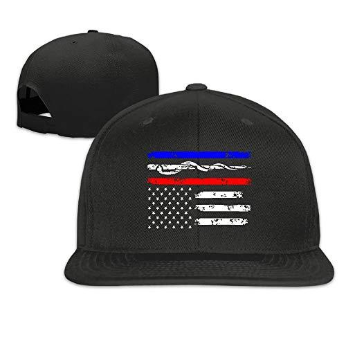 Zcfhike Justierbare Baseballmütze Hysteresenhut Baseballmütze Trucker Hat - Polizei & Feuerwehrmann & EMT Flagge ()