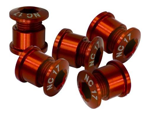 NC-17 Kettenblattschrauben 5 Loch Set rot