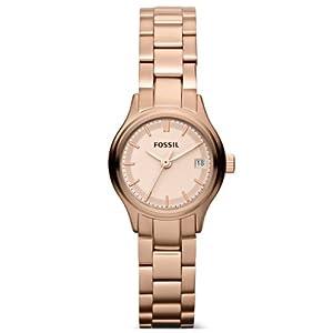 Reloj Fossil ES3167 de cuarzo para mujer con correa de acero inoxidable bañado, color rosa de Fossil