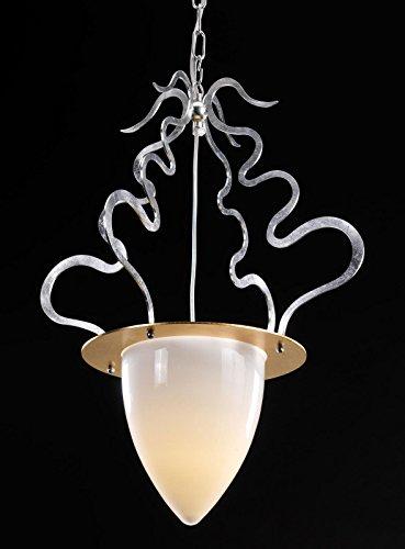 Tredici Tagliatelle Design Murano Glass Chandelier in Silver Leaf | Hand Made in Italy | E27| Luster