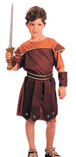 Fancy Ole - Jungen Boy Karnevalskomplettkostüm römischer Soldat , 134, Braun