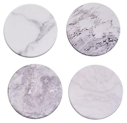 Giftale - Posavasos de mármol de cerámica para bebidas, 3,6