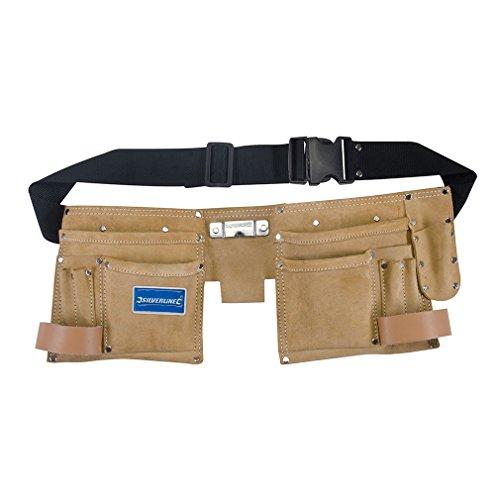 Silverline 395015 Werkzeuggürtel mit Doppeltaschen, 11 Fächer 300 x 200 mm