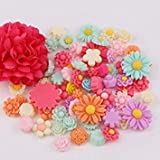50pcs/lot Flower Flat Back Resins Cabochon Scrapbook