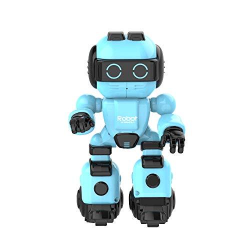 ACOC Inteligente RC Robot Juguete Control Remoto Gesto Robot Kit con Programación Intelectual, Cantando Y Bailando Robots Recargables Multifuncionales para Niños, Regalo De Juguete para Niños,Azul