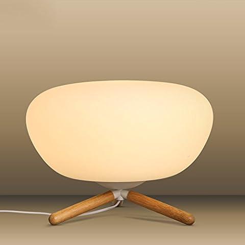 Inicio Monopoly Las ideas posmodernas de cristal de madera de sombra mesa de estudio dormitorio de la lámpara de oficina lámpara de