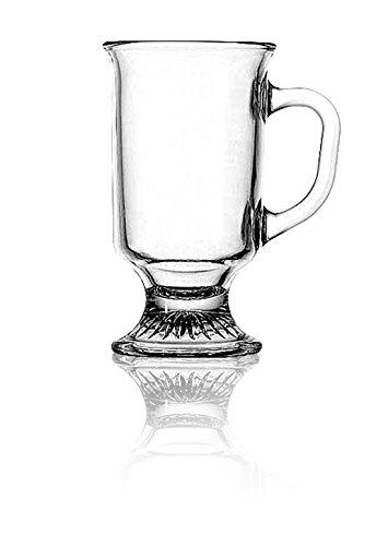 Anchor Hocking Set von 6klar Glas Irish Coffee Becher Tee Tassen (Hocking-set Anchor)