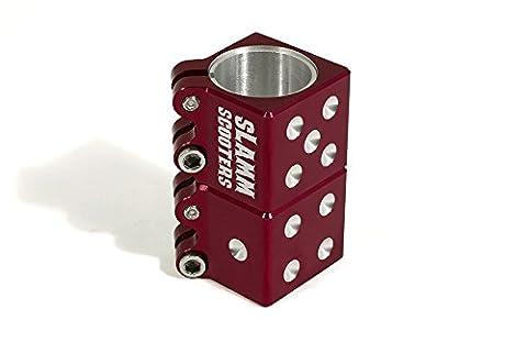 Slamm Scooters Collier de serrage pour trottinette Design dé rouge Rouge