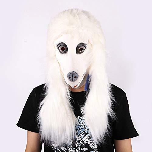 Maske Waschbär Kostüm - QAZXSW Lustiger Hirschkopf Nettes Haustierschaf Frosch Pudel Cat Waschbär Maske Latex Pferd für Kostüm Fancy Dress Party Halloween, Creepy Latex Gummi MaskeB3