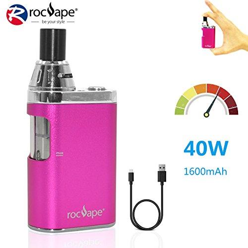 Cigarrillo electrónico 40w Vape Box Mod Rocvape Origo CVB All in One AIO  Big Vapor Mini Box Mod 1600mAh Batería I Sin nicotina - Rosa