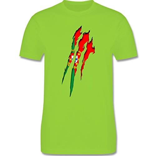 Länder - Portugal Krallenspuren - Herren Premium T-Shirt Hellgrün