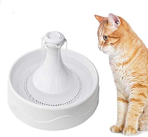 L.TSA Trinkbrunnen-Spender, automatischer 2-Liter-Umwälz-Wasserspender, besonders leiser, Rutschfester, langlebiger Antitrocken-Trinker für Katzen und Hunde