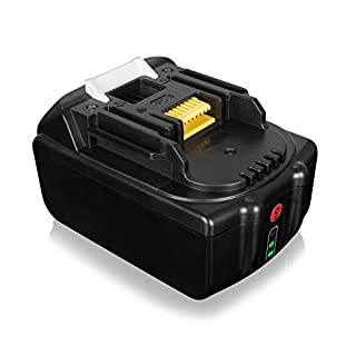 FLAGPOWER 18V 5.0Ah Li-ion Replacement Battery for Makita Cordless Drill 194205-2 LXT-400 BL1850 BL1835 BL1830 Professional Grade Battery Pack with 3 Level LED Indicator
