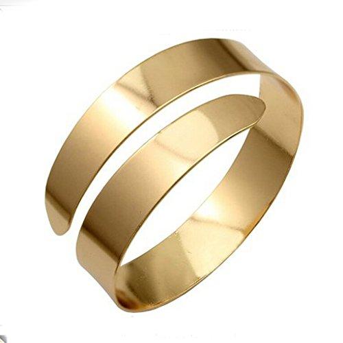 (Sharplace Armband Einstellbare Legierung Gold Farbe Punk Stil Schmuck)