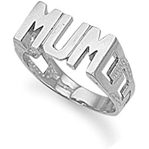 Broche de plata de ley 'madre' anillo