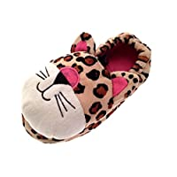 Kids Girls Plush 3D Animal Slippers Boots Winter Booties Xmas Gift Size UK 9-3