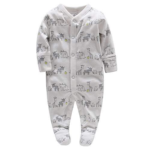 Bambino pagliaccetto body neonato, bambino pigiama tutina maniche lunghe tuta fumetto outfits, 0-3 mesi