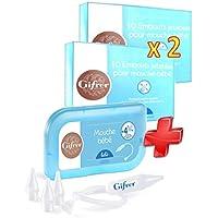 Preisvergleich für Gifrer Baby-Nasensauger + 2Packungen à 10Bits Einweg für Nasensauger