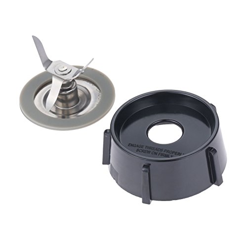 Hicello Eiscrusher Ersatz Klinge mit Bodenplatte Base Deckel und Dichtungsring O-Ring Dichtungen für Oster Blender -