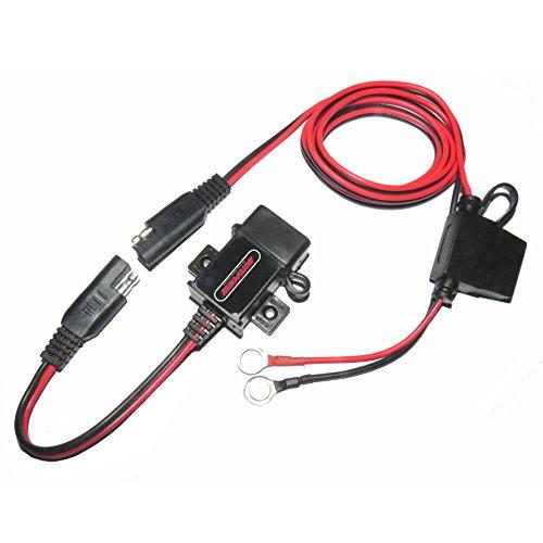 MOTOPOWER MP0609A 3,1A Wasserdichtes Motorrad USB-Ladegerät, SAE-Kit mit USB-Adapter