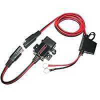 MOTOPOWER MP0609A 3.1Amp impermeable motocicleta cargador USB Kit SAE a USB adaptador Cargador de teléfono de la motocicleta cargador GPS