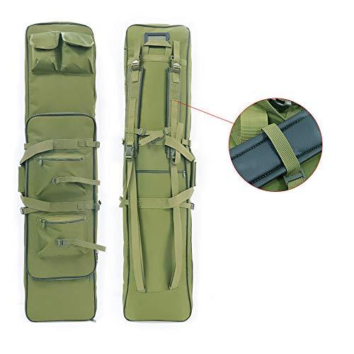LUVODI Waffentasche Rifle Case Futteral Gewehrtasche mit Doppelfach & 4Zubehör Beutel 100/120 X 30 cm