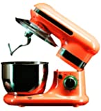 Hafele Glamline Series - Multifunctional Power Mixer with 3 Mixing Attachments, 4 Litre Mixer, High Speed Gear Transmission with 6 Speed Control, 600 Watt, Orange