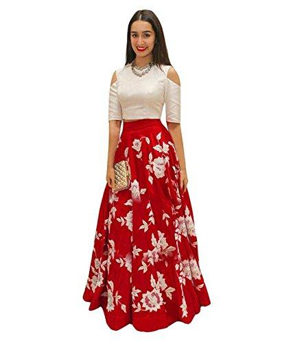 vaidehi creation Cotton Silk Lehenga Choli (Red_Free Size)
