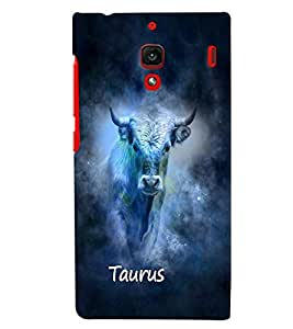 PrintVisa Zodiac Taurus 3D Hard Polycarbonate Designer Back Case Cover for Xiaomi Redmi 1S