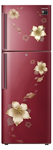 Samsung 253 L 2 Star Frost Free Double Door Refrigerator(RT28N3342R2/HL, RT28N3342R2/NL, Star Flower Red, Inverter Compressor)