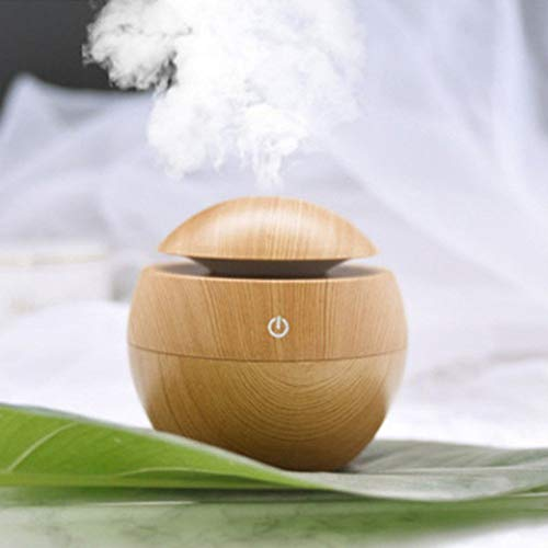 Brezzycloud Wooden Aroma Mini Wood Finish Air Diffuser Humidifier, Air Oil Diffuser Air Purifier Air Freshener (Multi Color) (ASSORTED)