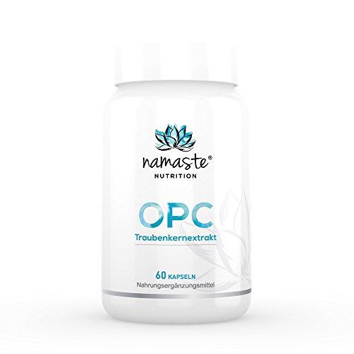 Premium OPC Traubenkernextrakt von namaste nutrition (5er Pack) | aus deutschen Traubenkernen | hergestellt in Deutschland | hochdosiert | 350mg je Tagesdosis