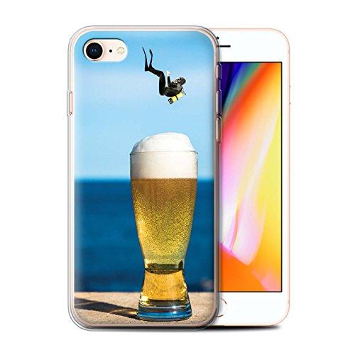 Stuff4 Gel TPU Hülle / Case für Apple iPhone 8 / König Koala Muster / Unten Unter Kollektion Es Ist Freitag!