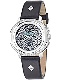 JUST CAVALLI Damen - Armbanduhr DECOR Analog Quarz Leder R7251216505