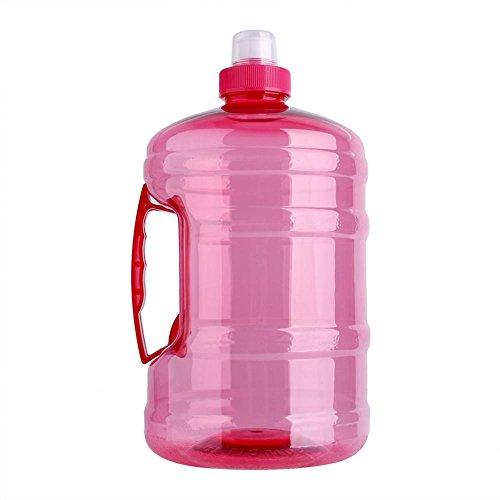 Bottiglia di acqua di sport, 2l grande bpa libero tappo di bottiglia di plastica bollitore bere contenitore con maniglia per allenamento all'aperto fitness palestra (pet)