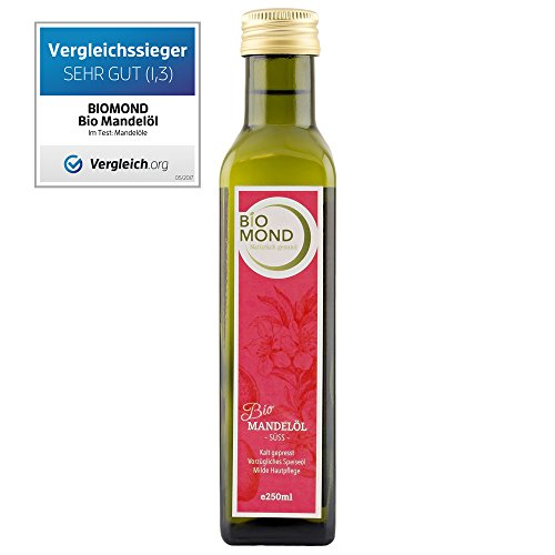BIO Mandelöl süß BIOMOND, 250 ml / kaltgepresst / Testsieger / Nussöl / Naturkosmetik / Gourmetöl