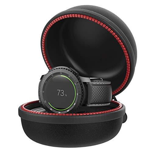 Moretek Support de Chargeur pour Samsung Gear S3, Étui de Charge Poche Transport de Sac de Stockage avec Station de Chargement pour Samsung Gear S3 Classic Frontier Smartwatch Stand Holder (S3Black)