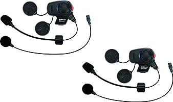 Sena SMH5D-UNIV Auricolari e Intercom Bluetooth per Scooter/Motocicli con Kit del Microfono Universale, Confezione Doppia