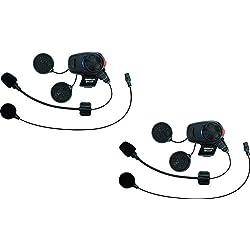 Sena SMH5D-UNIV SMH5 Casque Bluetooth et Intercom Kit Microphone Universel, Pack Double